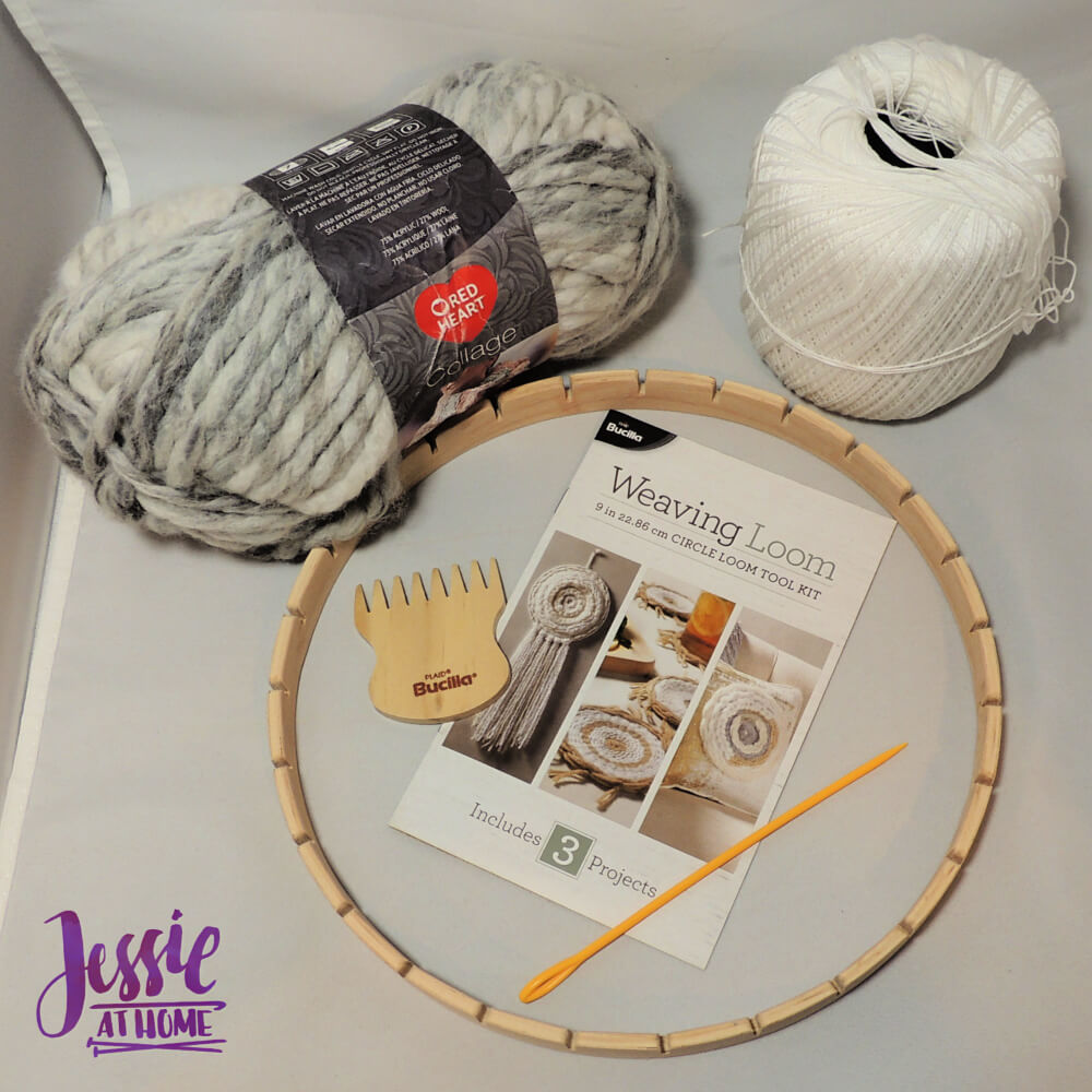 Bucilla Round Weaving Loom review from Jessie At Home - supplies