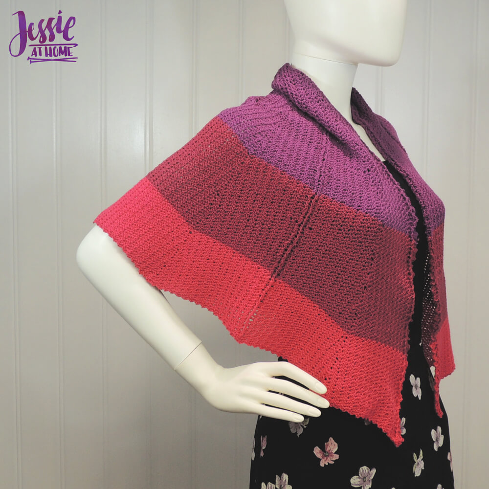 Dragon Wing Crochet Shawl free crochet pattern by Jessie At Home - 2