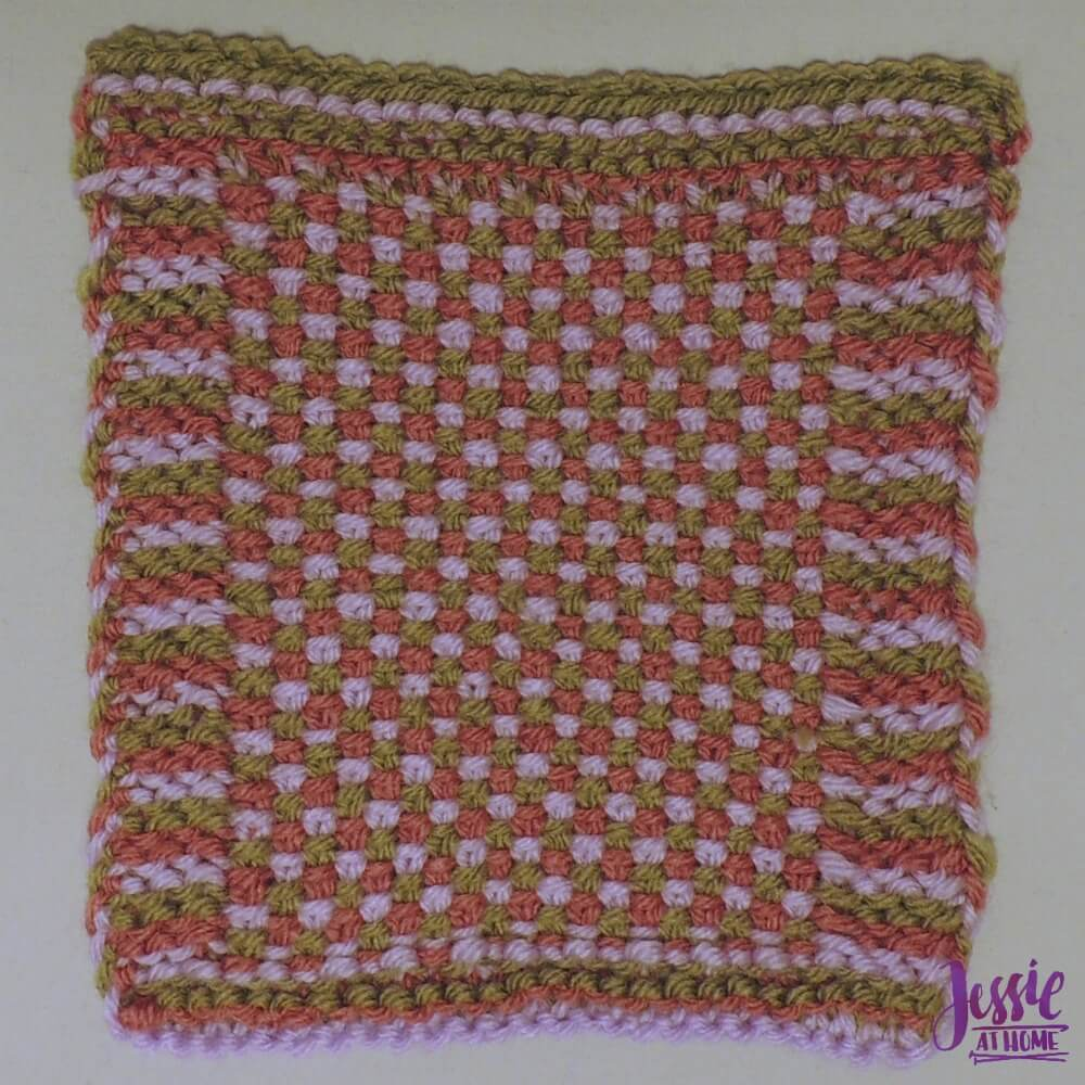 Linen Stitch Square - free knit pattern by Jessie At Home - 1