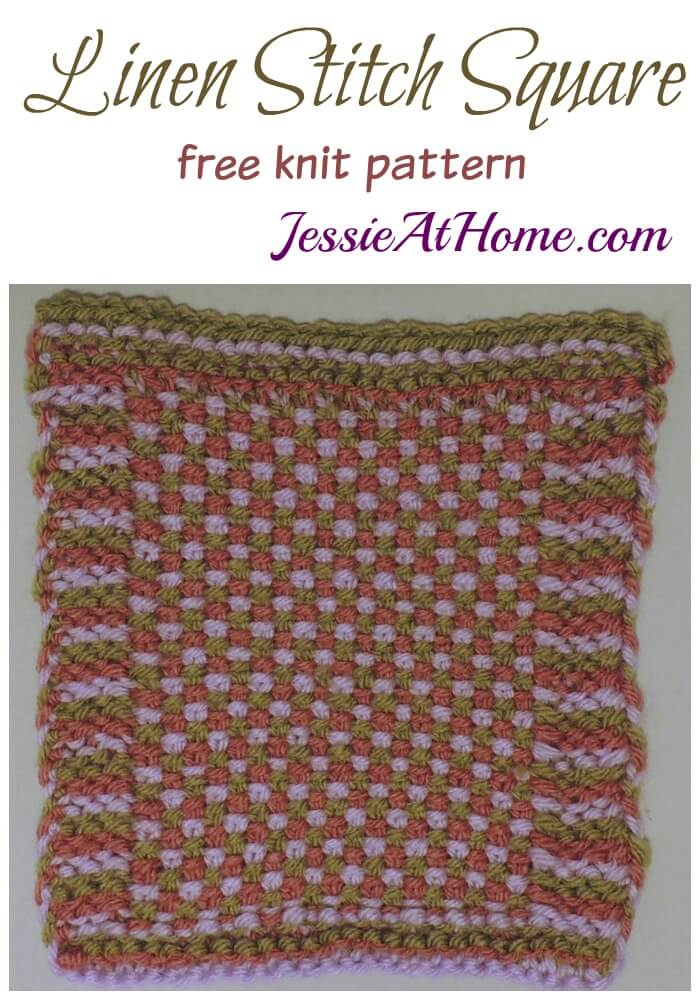Linen Stitch Square - free knit pattern by Jessie At Home