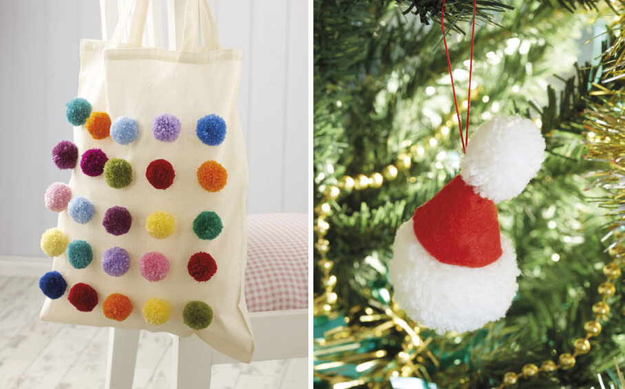 Pompom Noel book review from Jessie At Home bag and Santa