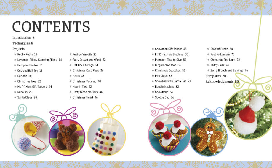 Pompom Noel book review from Jessie At Home contents