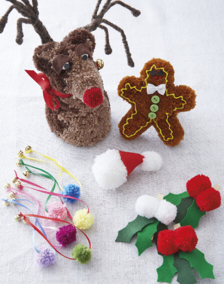 Pompom Noel book review from Jessie At Home decorations
