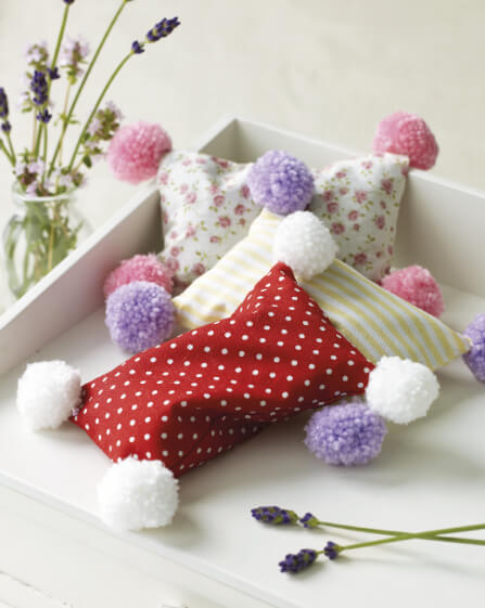 Pompom Noel book review from Jessie At Home lavender bags