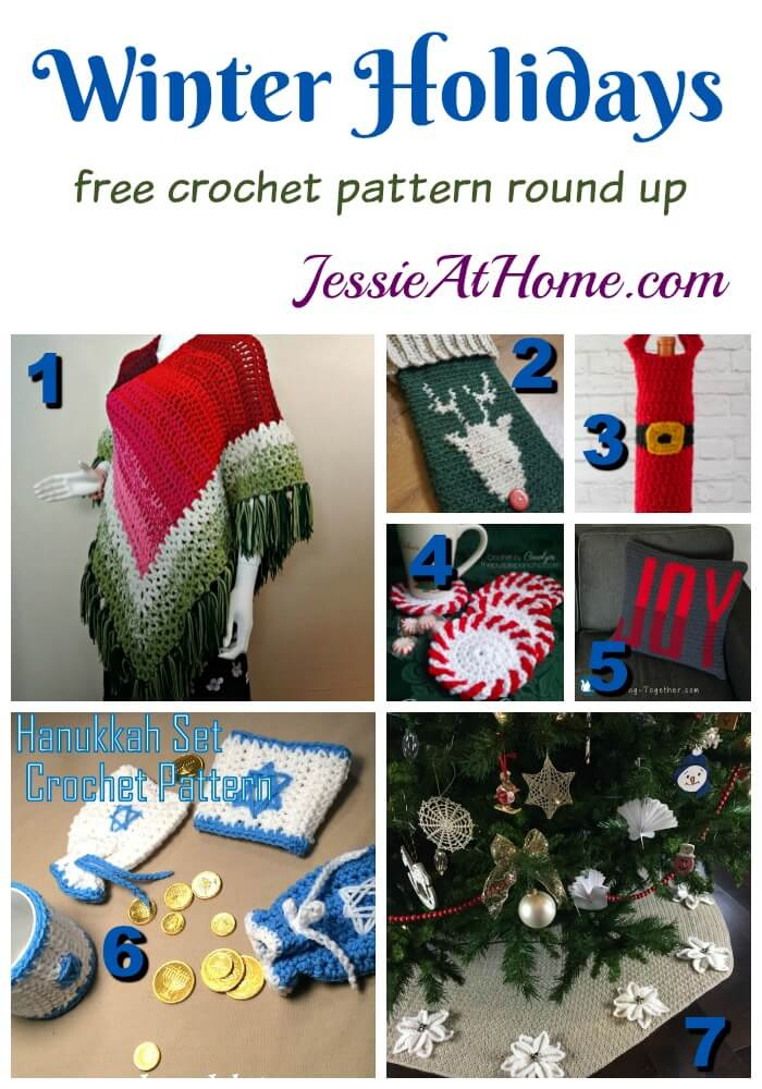 Winter Holidays free crochet pattern round up from Jessie At Home