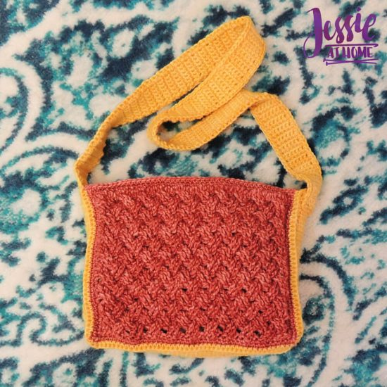 Celtic Cables Purse free crochet pattern by Jessie At Home - 2