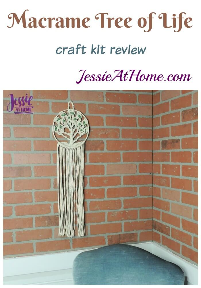 Macrame Tree of Life craft kit review from Jessie At Home