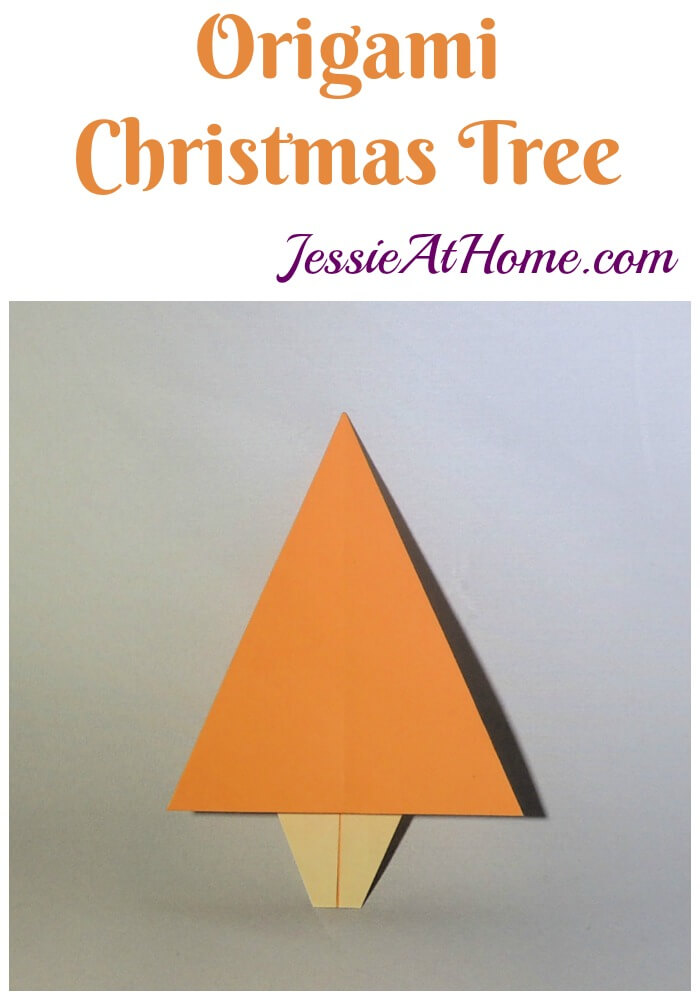 Origami Christmas Tree tutorial from Jessie At Home