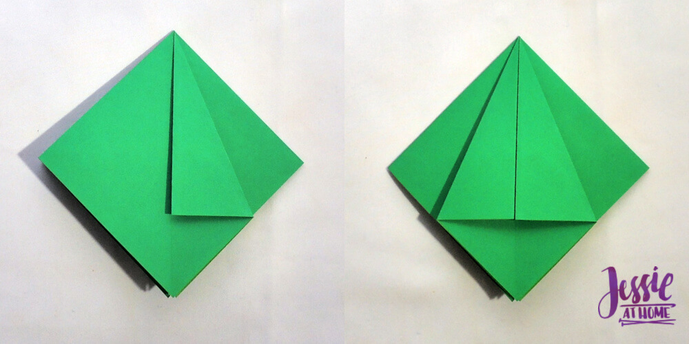 Origami Frog Base Tutorial by Jessie At Home - Step 2