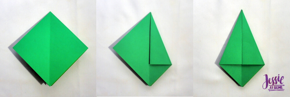 Origami Frog Base Tutorial by Jessie At Home - Step 3