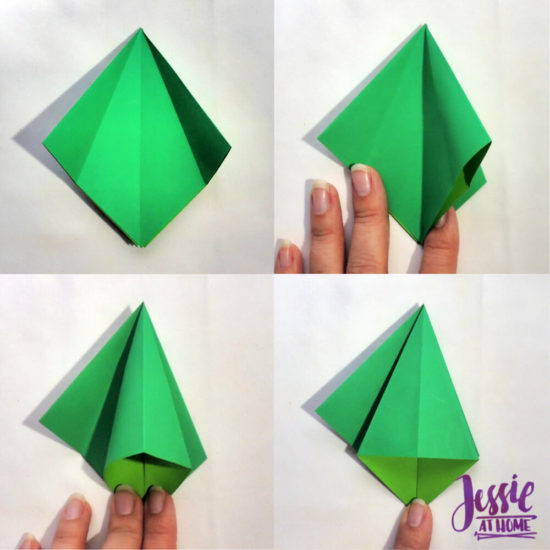 How to make a frog origami base: page 1 | 550x550