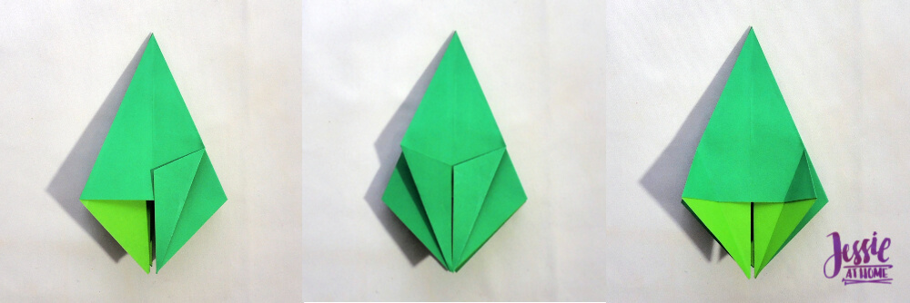 Origami Frog Base Tutorial by Jessie At Home - Step 6