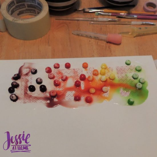 Painting with Skittles craft tutorial by Jessie At Home - Love sitting