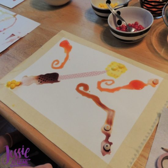 Painting with Skittles craft tutorial by Jessie At Home - Wand in process