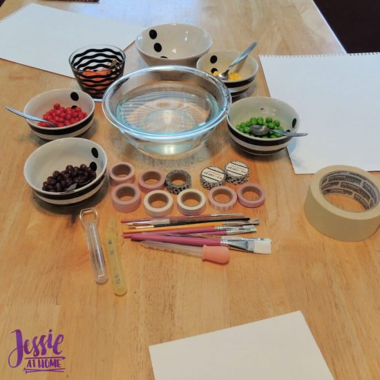 Painting with Skittles craft tutorial by Jessie At Home - set up
