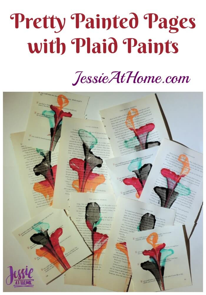 Pretty Painted Pages with Plaid Paints by Jessie At Home