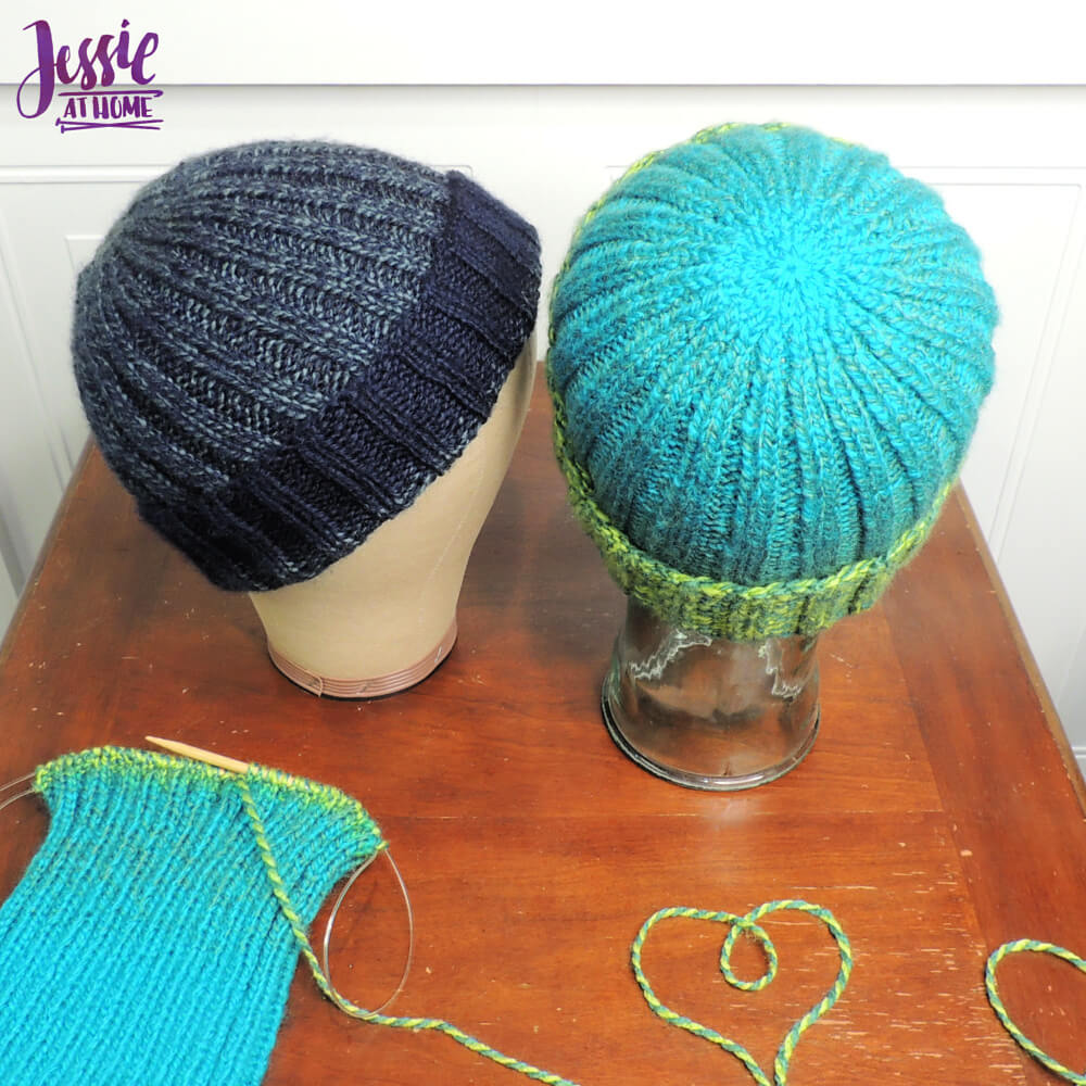 Ribbed Donation Hat free knit pattern by Jessie At Home - 2