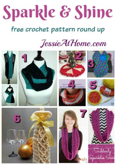 Sparkle and Shine free crochet pattern round up from Jessie At Home