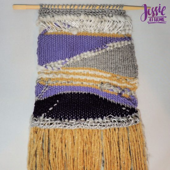 Woven Wall Hanging craft tutorial by Jessie At Home - done back