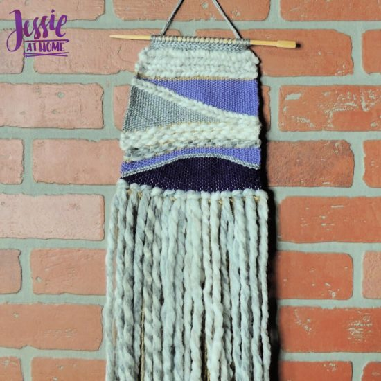 Woven Wall Hanging craft tutorial by Jessie At Home - close up