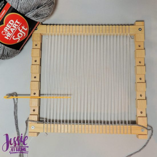 Woven Wall Hanging craft tutorial by Jessie At Home - step 1
