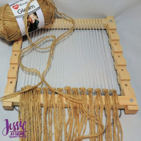Woven Wall Hanging craft tutorial by Jessie At Home - step 2