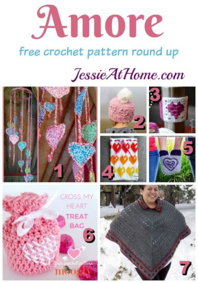 Amore - free crochet pattern round up from Jessie At Home