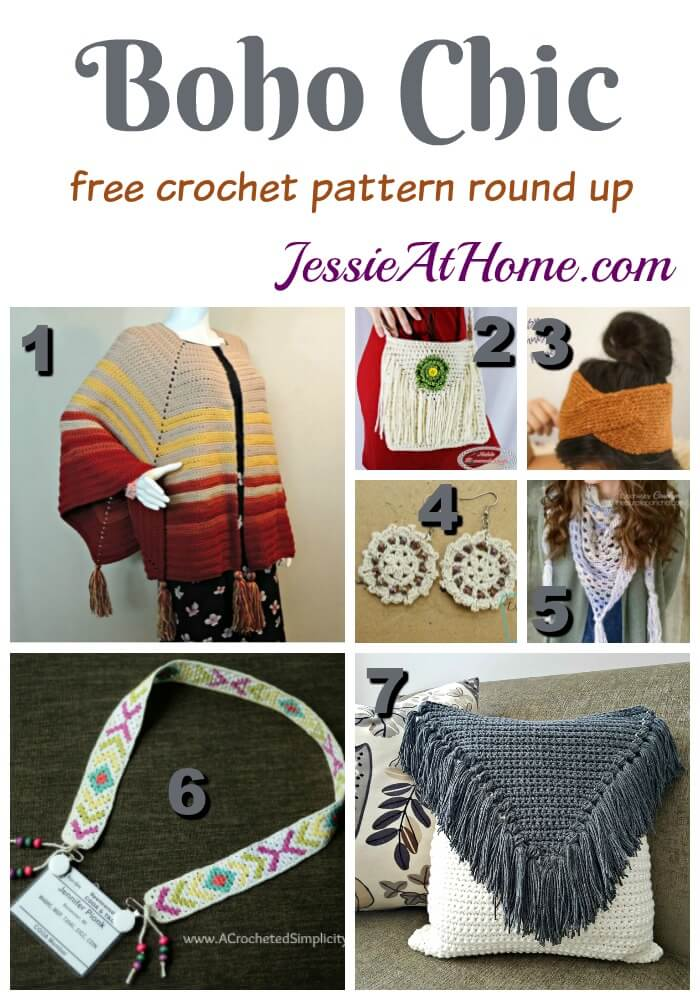 Boho Chic free crochet pattern round up from Jessie At Home