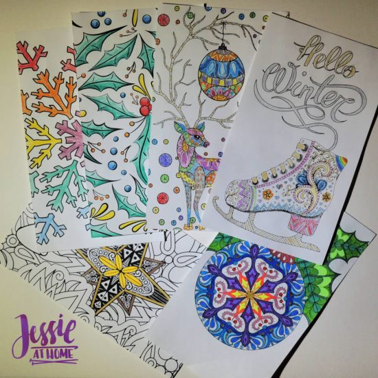 Color on the Go - fun for all seasons - review by Jessie At Home - colored in