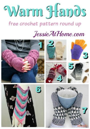 Warm Hands - free crochet pattern round up from Jessie At Home