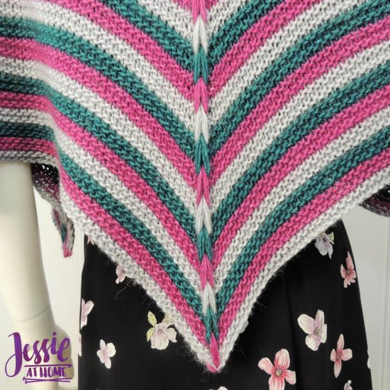 Dragon Wing Cape - free knit pattern by Jessie At Home - 2