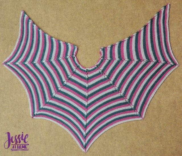 Dragon Wing Cape - free knit pattern by Jessie At Home - 3
