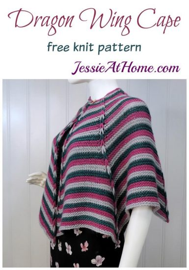 Dragon Wing Cape - free knit pattern by Jessie At Home