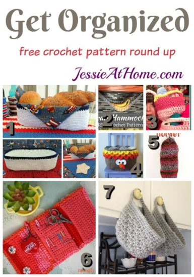 Get Organized free crochet pattern round up from Jessie At Home