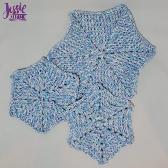 Hexagon Dish Scrubby or Trivet free crochet pattern by Jessie At Home - 3