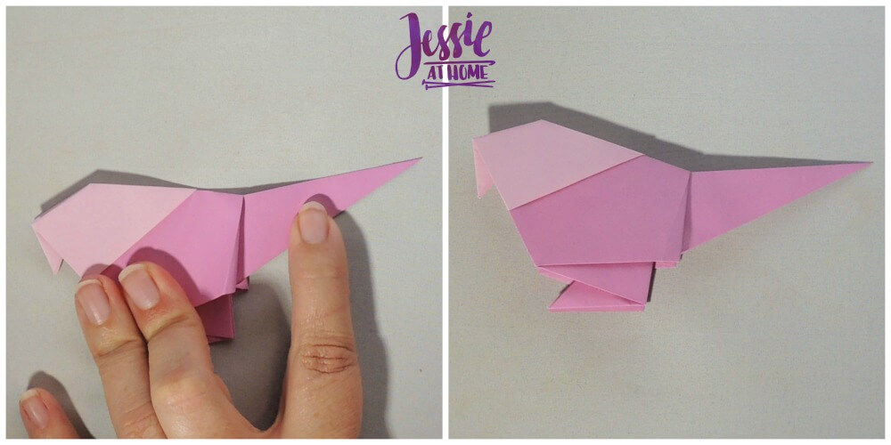Origami Little Bird Step 12