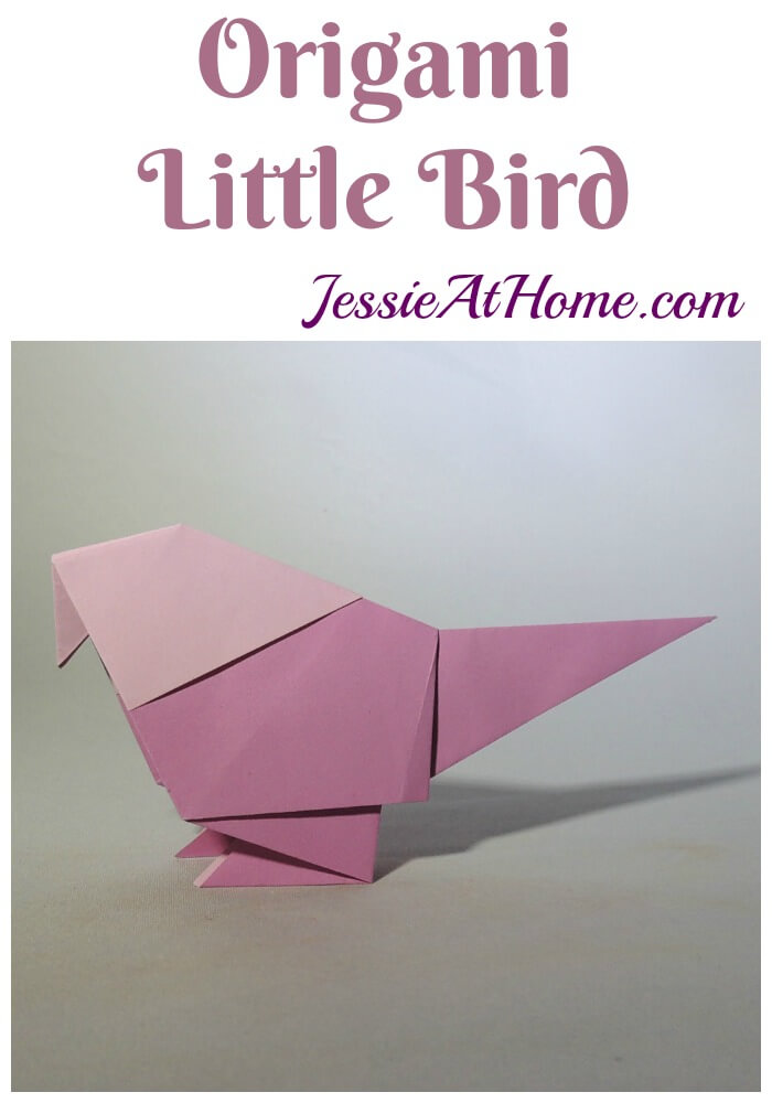 Origami Little Bird tutorial from Jessie At Home