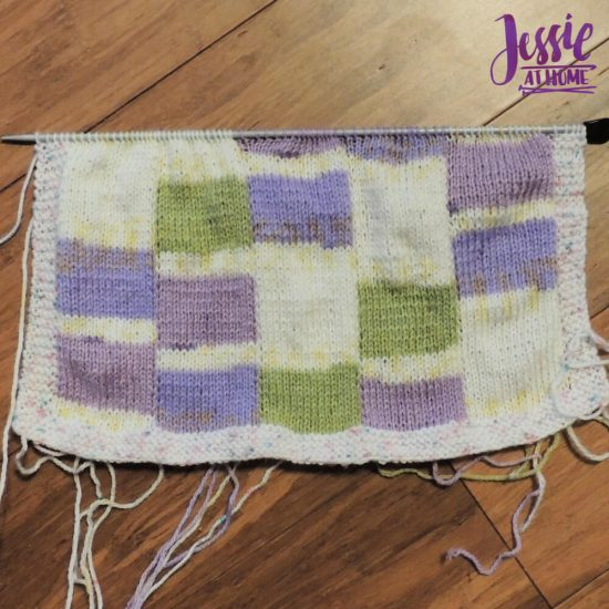 Bargello Knits - book review by Jessie At Home - Swatch