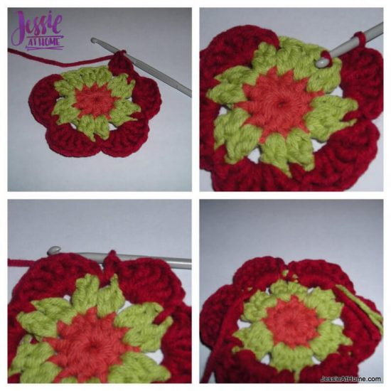 Flower to Hexagon Granny free crochet pattern by Jessie At Home tutorial - 3