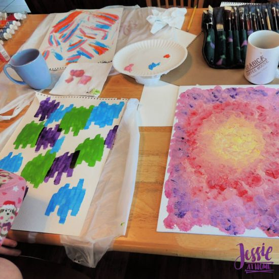 Happy Abstracts - painting book for kids and adults - review by Jessie At Home - planning