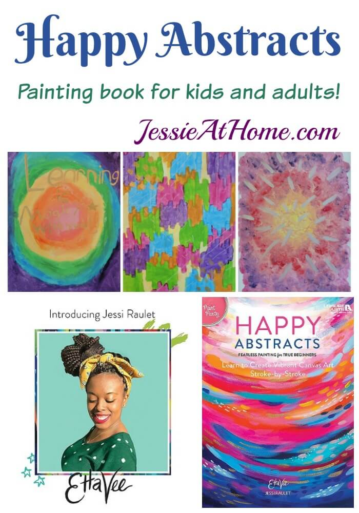 Happy Abstracts - painting book for kids and adults - review by Jessie At Home