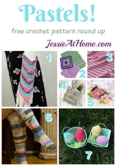 Pastel free crochet pattern round up from Jessie At Home