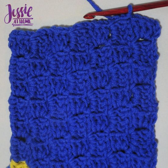 Scarf Squared - C2C Box Stitch free crochet pattern and tutorial by Jessie At Home - Done