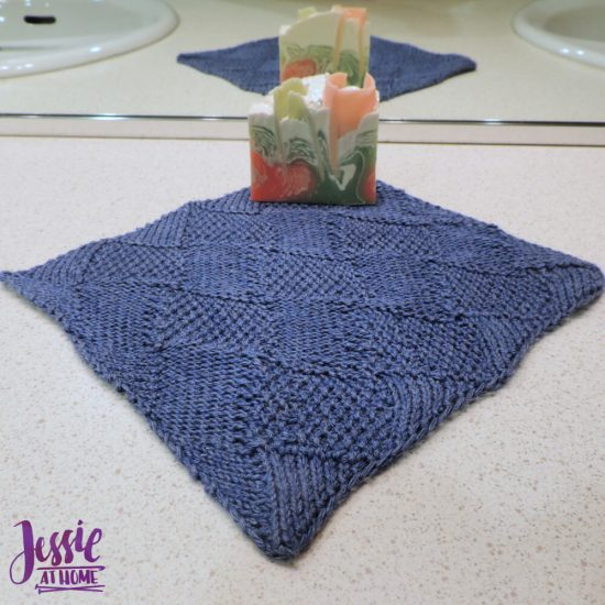 Seed Stitch Entrelac Washcloth free knit pattern by Jessie At Home - 2