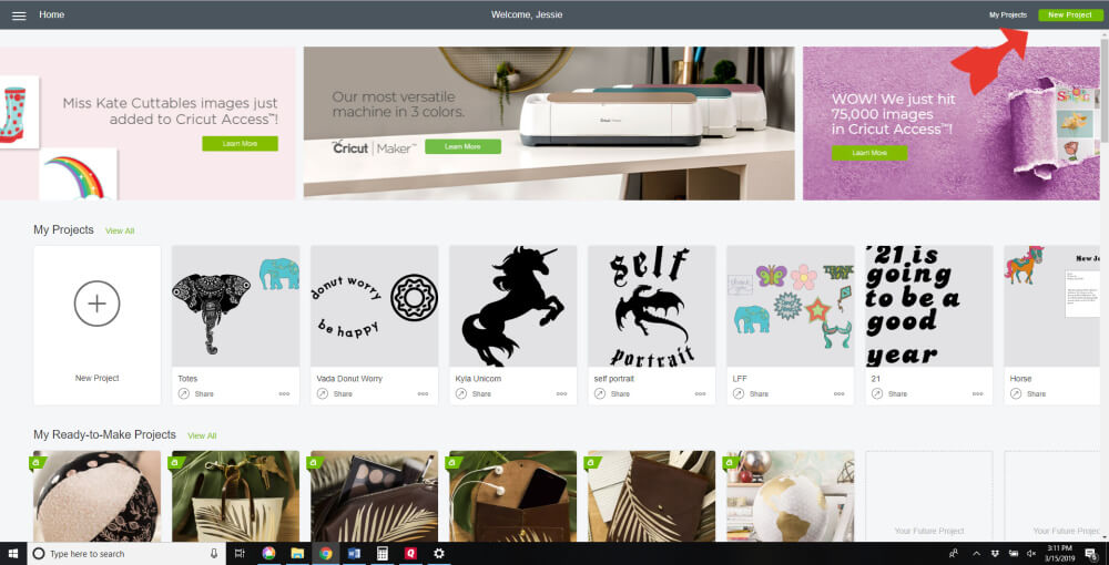 Styletech Vinyl and Tools review and tutorial by JessieAtHome.com 01 - Cricut Design Space
