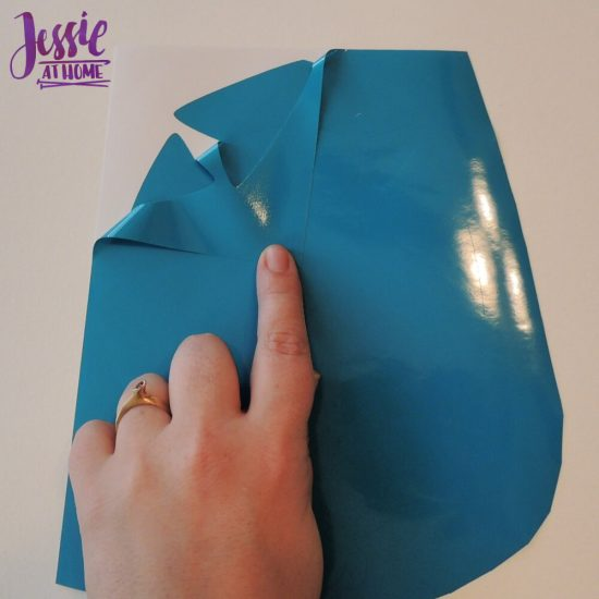 Styletech Vinyl and Tools review and tutorial by JessieAtHome.com 20 - peal off excess vinyl
