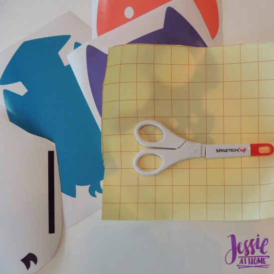 Styletech Vinyl and Tools review and tutorial by JessieAtHome.com 23 - Cut transfer paper