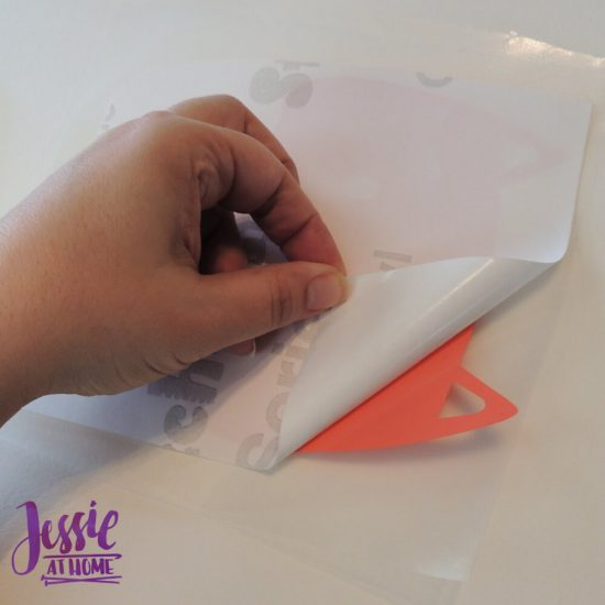 Styletech Vinyl and Tools review and tutorial by JessieAtHome.com 25 - peel off backing