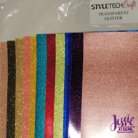 Styletech Vinyl and Tools review and tutorial by JessieAtHome.com 28 - Transparent Glitter
