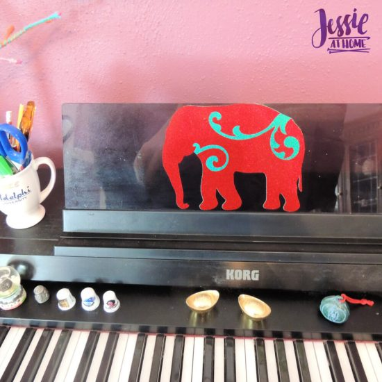 Styletech Vinyl and Tools review and tutorial by JessieAtHome.com 29 - Elephant